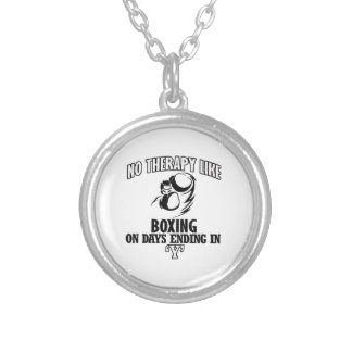 Trending Boxing designs Silver Plated Necklace