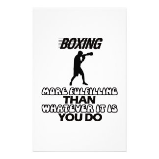 Trending Boxing DESIGNS Stationery