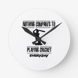 Trending cool Cricket designs Round Clock
