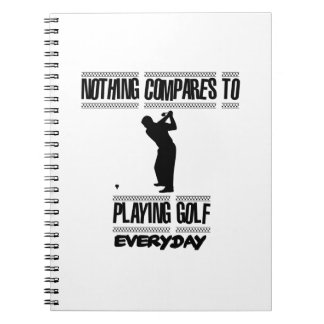 Trending cool Golf designs Notebooks