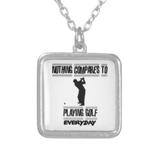 Trending cool Golf designs Silver Plated Necklace