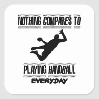 Trending cool Handball designs Square Sticker