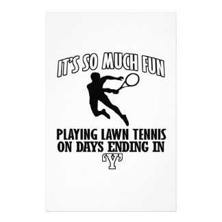 Trending cool Lawn-tennis designs Stationery