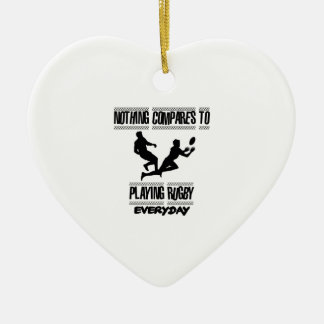 Trending cool Rugby designs Ceramic Ornament