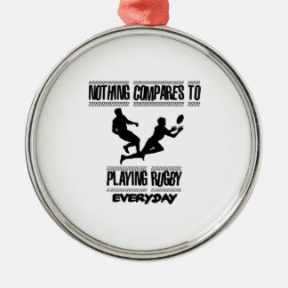 Trending cool Rugby designs Metal Ornament
