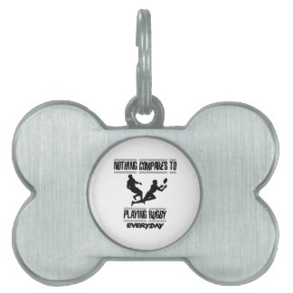 Trending cool Rugby designs Pet ID Tag