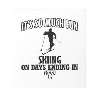 Trending cool skiing designs notepad