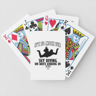 Trending cool sky-diving designs bicycle playing cards