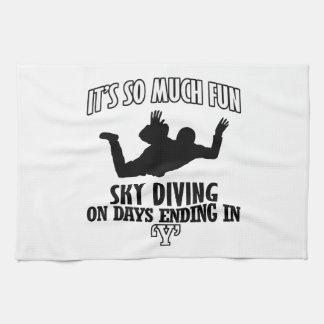 Trending cool sky-diving designs kitchen towel