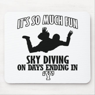 Trending cool sky-diving designs mouse pad