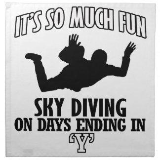 Trending cool sky-diving designs napkin