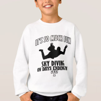 Trending cool sky-diving designs sweatshirt