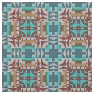 Trending Eclectic Ethnic Bohemian Mosaic Pattern Fabric