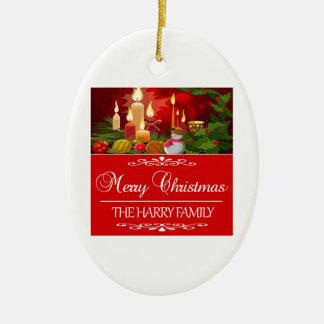 Trending Harry Family Christmas design Ceramic Ornament
