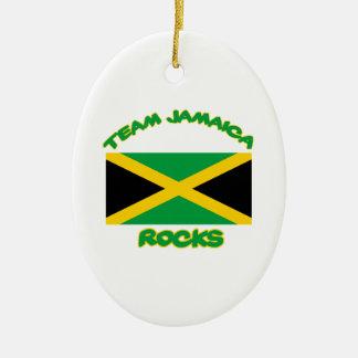 Trending Jamaican DESIGNS Ceramic Oval Ornament