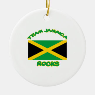 Trending Jamaican DESIGNS Round Ceramic Ornament