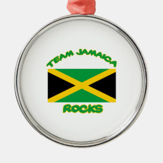 Trending Jamaican DESIGNS Silver-Colored Round Ornament
