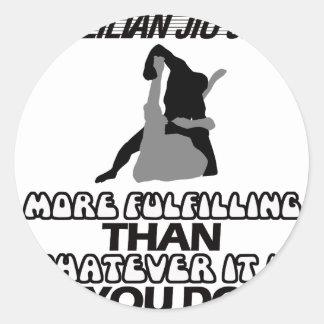 Trending Jiu Jitsu DESIGNS Classic Round Sticker