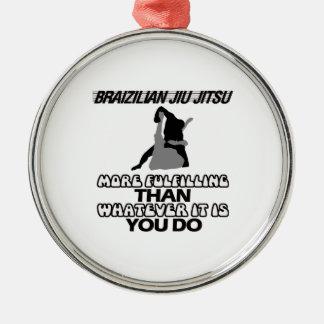 Trending Jiu Jitsu DESIGNS Silver-Colored Round Ornament