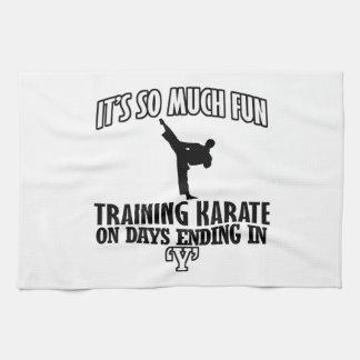 Trending karate designs kitchen towel