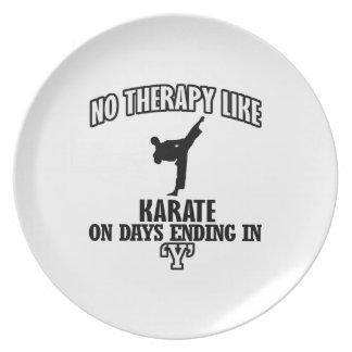 Trending Karate designs Plate