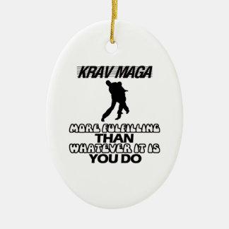 Trending Krav Maga DESIGNS Ceramic Ornament