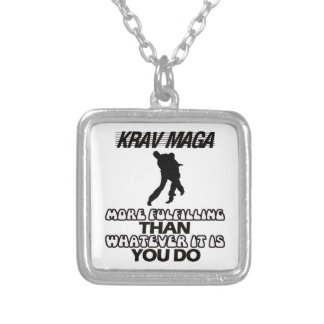 Trending Krav Maga DESIGNS Silver Plated Necklace