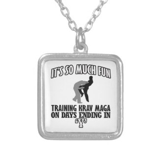 Trending Krav Maga designs Silver Plated Necklace