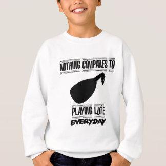 Trending lute player designs sweatshirt