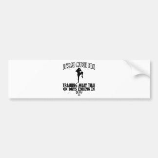 Trending Muay thai designs Bumper Sticker
