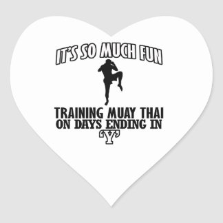 Trending Muay thai designs Heart Sticker