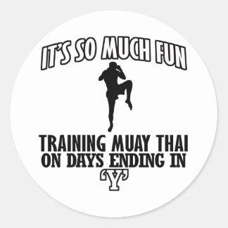 Trending Muay thai designs Round Sticker