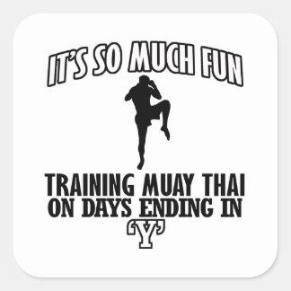 Trending Muay thai designs Square Sticker