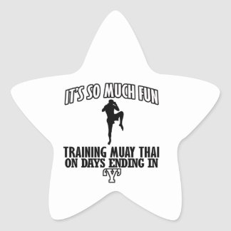 Trending Muay thai designs Star Sticker