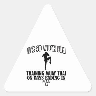 Trending Muay thai designs Triangle Sticker