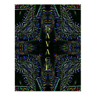 Trending Pop Culture Slang 'Savage' Postcard