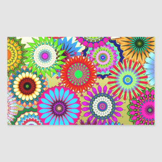 Trending Psychadelic Flower Power Print Accessory Sticker