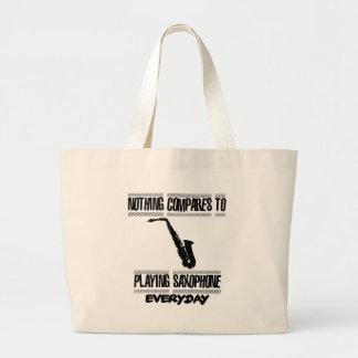 Trending Saxophone designs Large Tote Bag