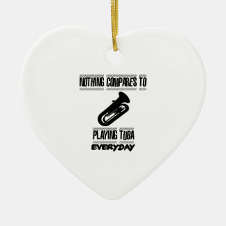 Trending Tuba player designs Ceramic Ornament