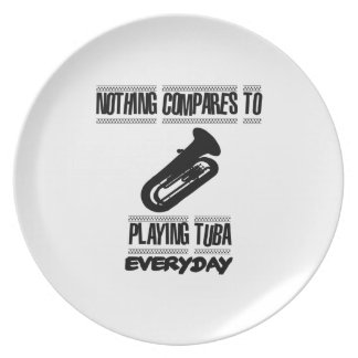 Trending Tuba player designs Dinner Plate