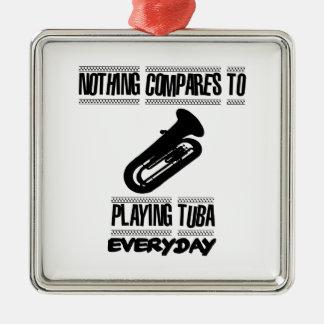 Trending Tuba player designs Metal Ornament