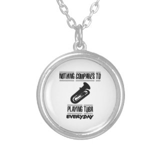 Trending Tuba player designs Silver Plated Necklace