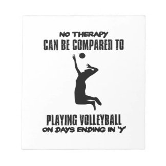 Trending Volleyball designs Notepad