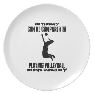 Trending Volleyball designs Plate
