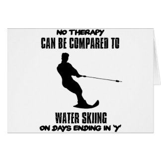 Trending Water skiing designs Card
