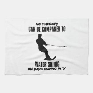 Trending Water skiing designs Kitchen Towel