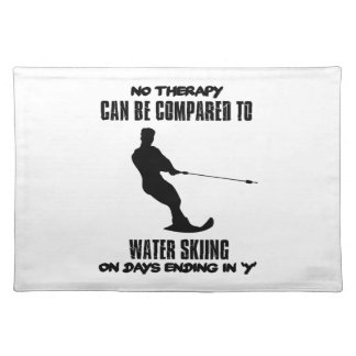 Trending Water skiing designs Placemat