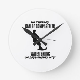 Trending Water skiing designs Round Clock