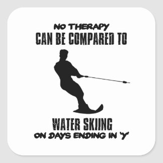 Trending Water skiing designs Square Sticker