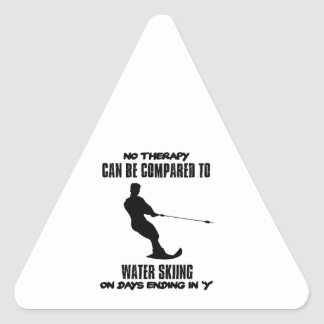 Trending Water skiing designs Triangle Sticker